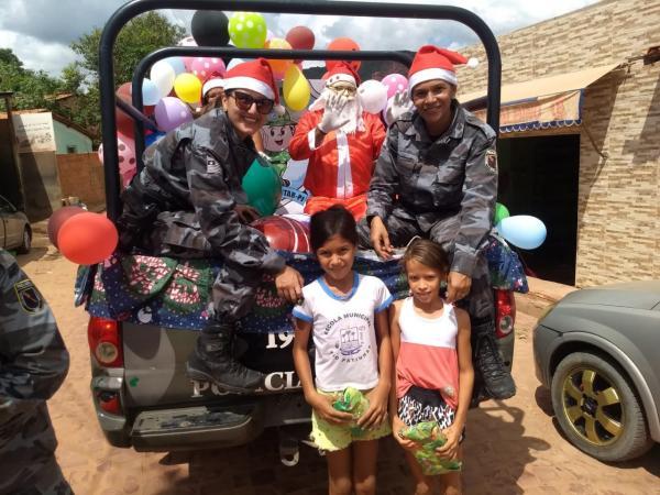 PM de Bom Jesus realiza Natal Solidário para crianças carentes
