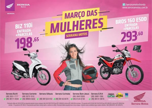 Março das Mulheres na Serrana Motos - Bom Jesus