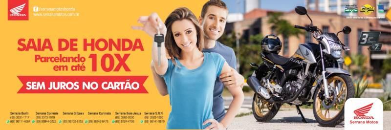 Serrana Motos: Saia de Honda 0 km parcelando em 10x sem juros no cartão!
