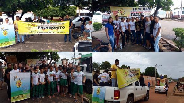 Mobilização e panfletagem marcam o '18 de Maio' em Redenção