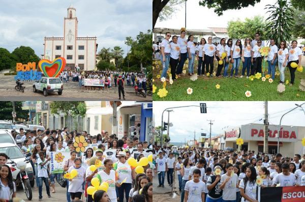 FOTOS: Prefeitura de Bom Jesus promove campanha alusiva ao 18 de Maio
