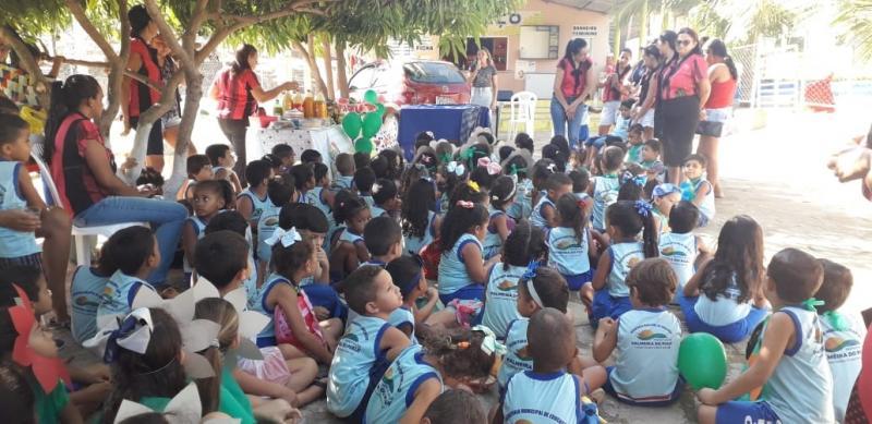 'Piquenique' e palestra sobre alimentação saudável em Palmeira do PI