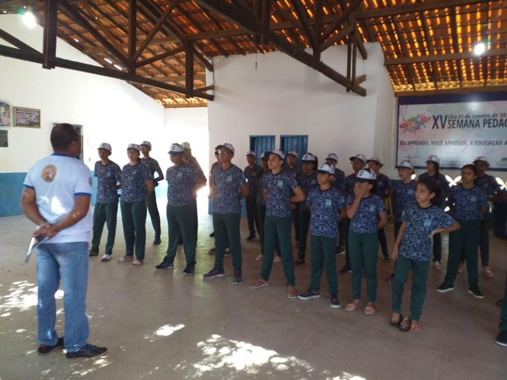 Pelotão Mirim de Avelino Lopes recebe visita do Sub Tenente Pessoa