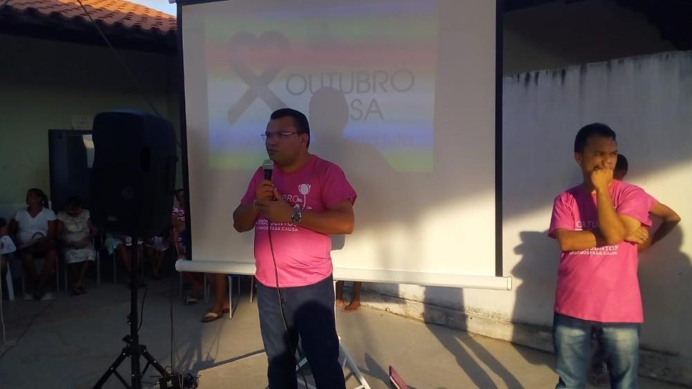 Palestra sobre prevenção ao câncer de mama em Redenção do Gurgueia