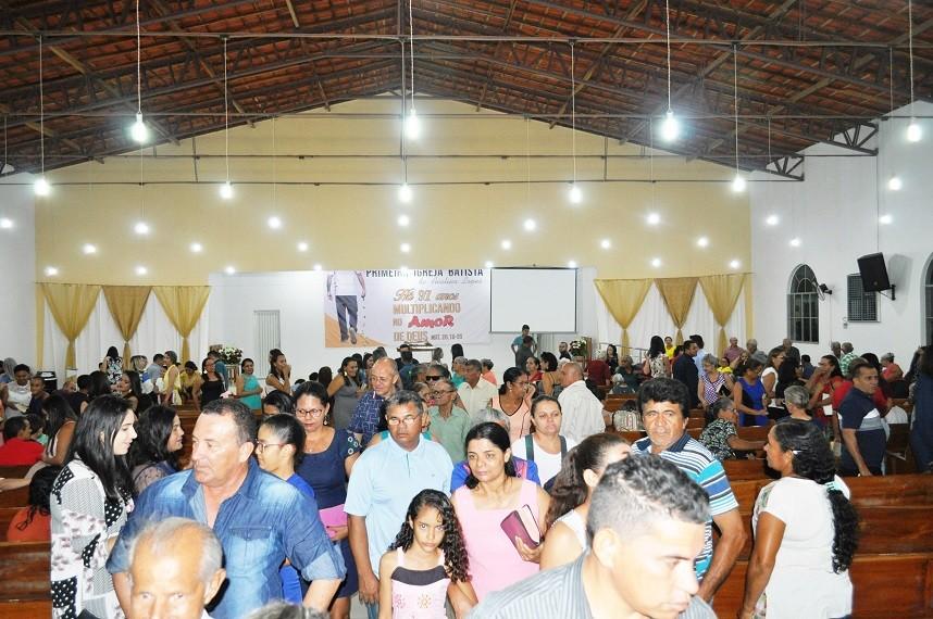 Primeira Igreja Batista de Avelino Lopes completa 97 anos