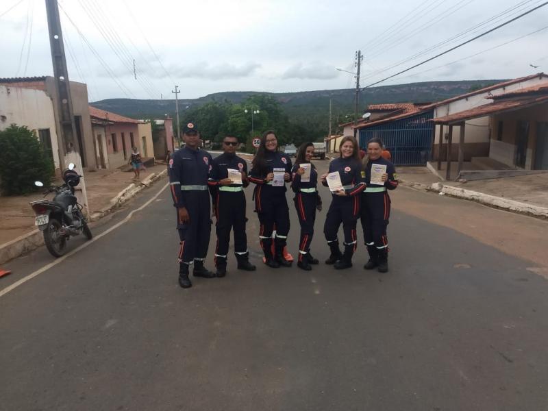 SAMU de Manoel Emídio realiza campanha educativa