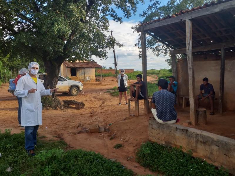 PM realiza conscientização sobre coronavírus em Morro Cabeça no Tempo