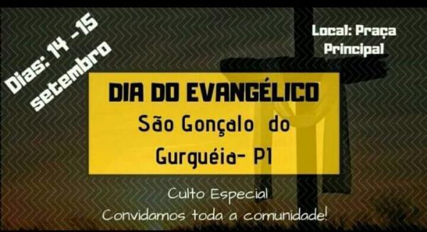 Dia do Evangélico será celebrado em São Gonçalo do Gurguéia.