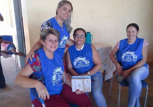 Secretaria de Assistência Social atende povoado em Cristalândia.