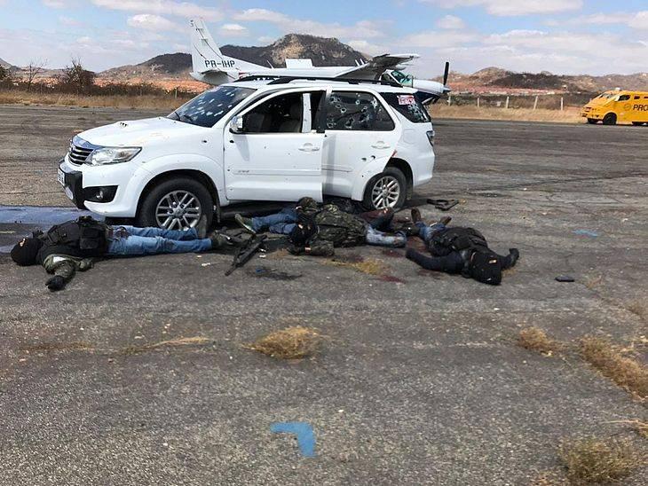 Polícia Federal mata 5 assaltantes em tentativa de roubo em aeroporto.
