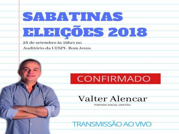 UESPI de Bom Jesus está pronta para sabatinar Valter Alencar, candidato ao Governo do Estado.