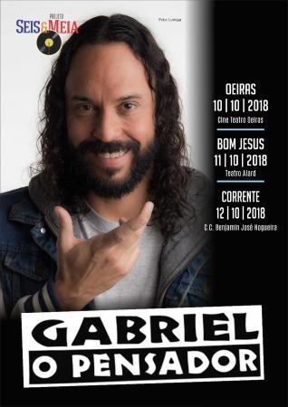 Gabriel 'O Pensador' fará show em Bom Jesus e Corrente