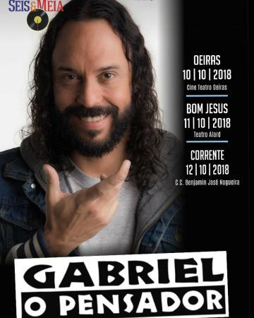 Gabriel O Pensador se apresentará em Corrente.
