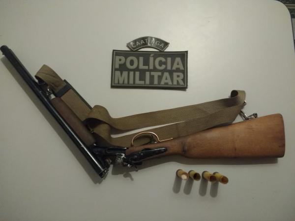 PM retira mais três armas de fogo de circulação em Curimatá.