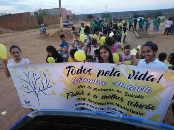 Caminhada pela Vida foi realizada em Morro Cabeça no Tempo