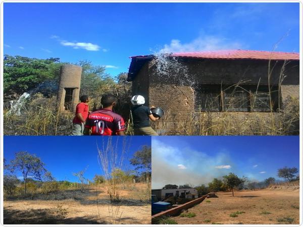 Início de incêndio causa tensão em moradores de Bairro em Gilbués