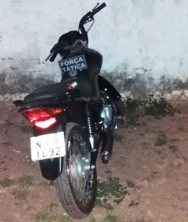 Moto roubada é recupera em Corrente pela Força Tática