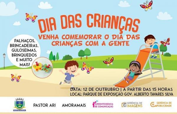 Prefeitura de Corrente convida população para comemorar o dia das crianças
