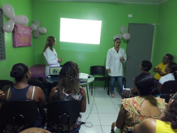Saúde de Monte Alegre realiza palestra sobre a campanha Outubro Rosa