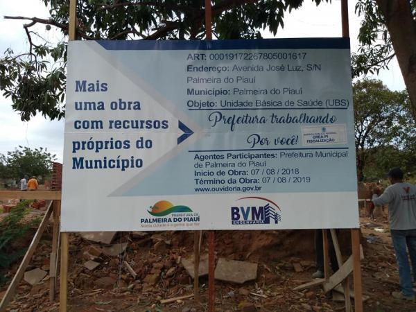 Palmeira do PI: Nova UBS começa a ser construída no município