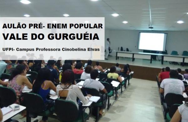 Projeto 'Pré-ENEM Popular Vale do Gurguéia' convida a todos para o aulão 2018