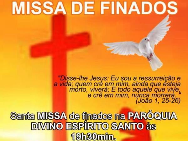 Missa de Finados na Paróquia Divino Espírito Santo em Corrente