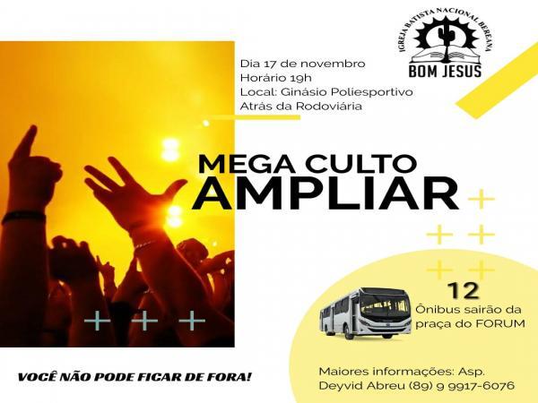 Igreja Batista Bereana realizará o AMPLIAR em Bom Jesus
