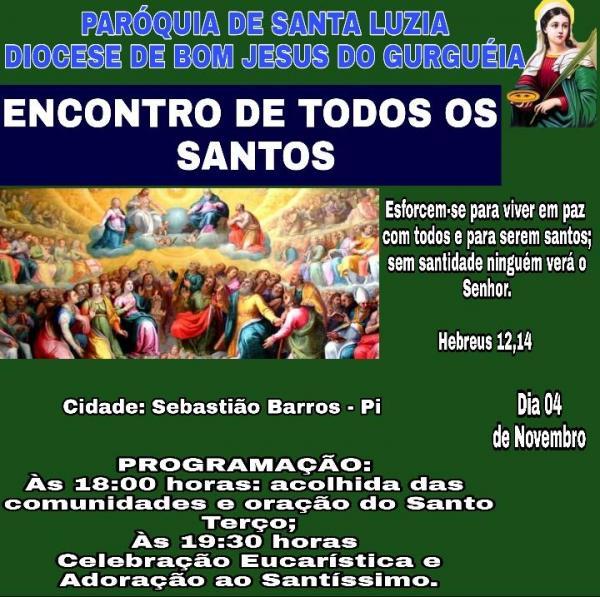 Primeiro Encontro de todos os Santos na paróquia Santa Luzia