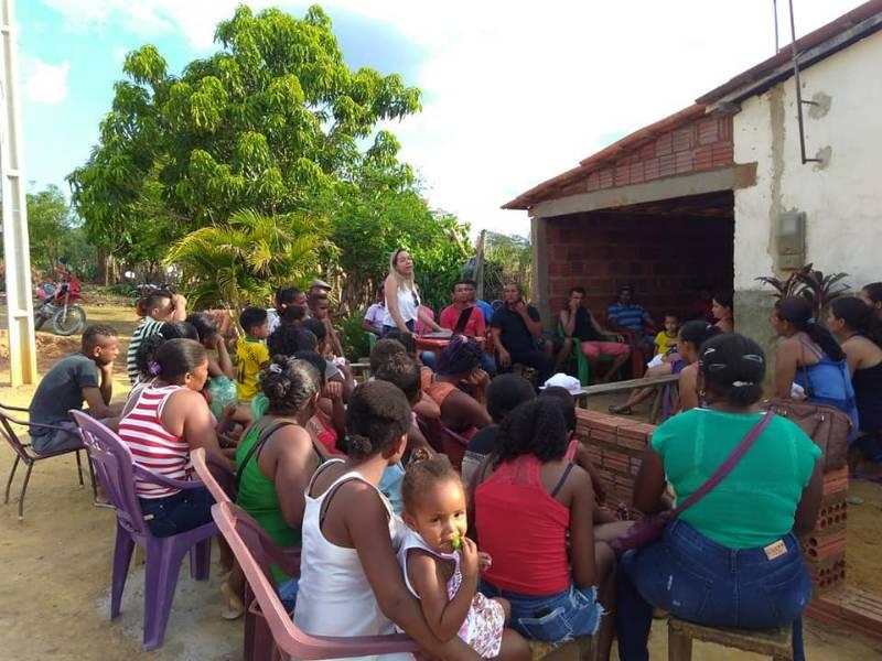 CRAS de Parnaguá realiza reunião com os moradores de Assentamento rural