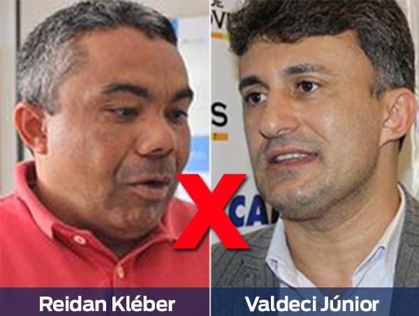 Juiz nega ação do prefeito Valdecir Júnior contra Reidan Kléber