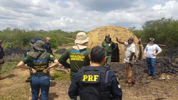 Operação destrói carvoarias e realiza várias apreensões em Gilbués e outras cinco cidades