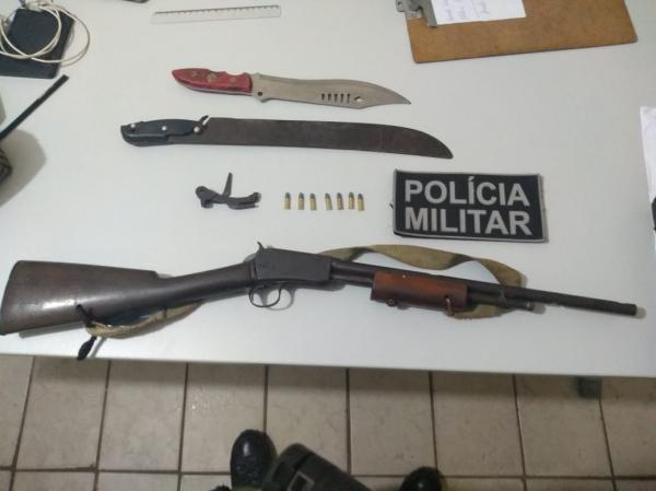 Polícia Militar apreende arma de fogo em Curimatá