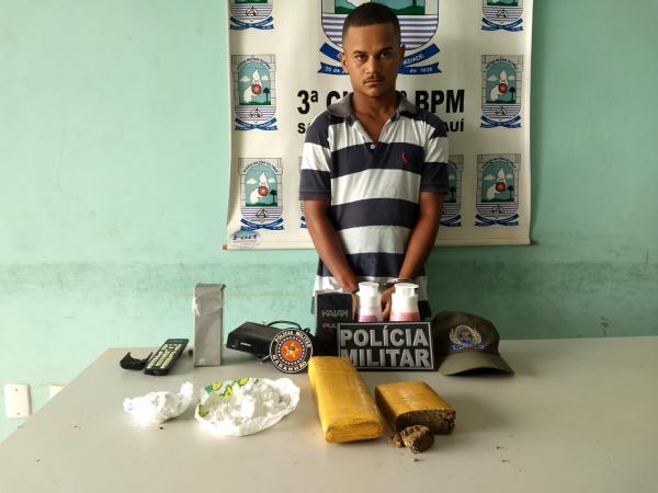Homem é preso em Gilbués por tráfico interestadual de drogas