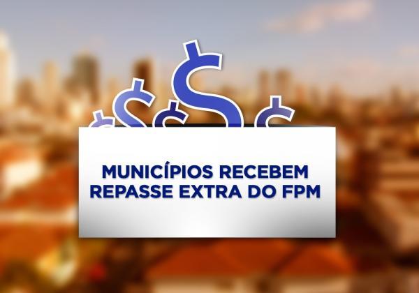 Municípios receberão repasse extra do FPM neste dia 7 de dezembro