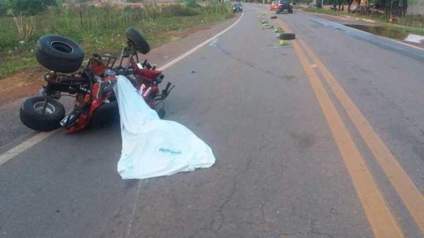 Cadeirante morre na BR 343 após perder o controle de veículo