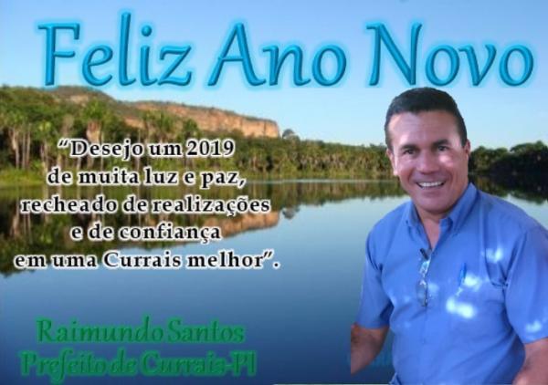 Mensagem do prefeito Raimundo Santos