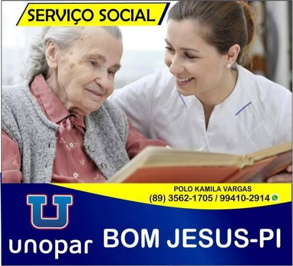 Bacharel em Serviço Social, na UNOPAR/ Bom Jesus