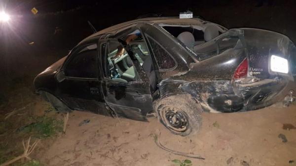Servidor público de Santa Luz sofre acidente na BR 135