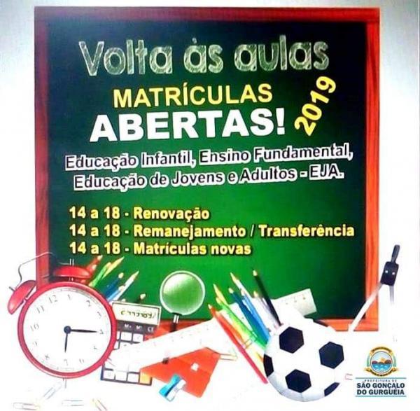 Educação de São Gonçalo divulga calendário das matrículas escolares.