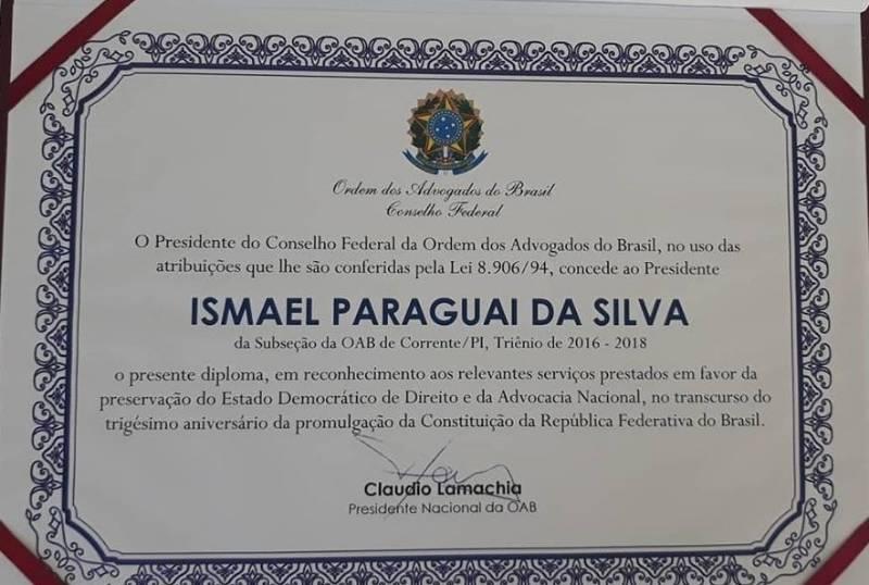 Dr. Ismael Paraguai participa da posse do novo presidente da OAB-PI