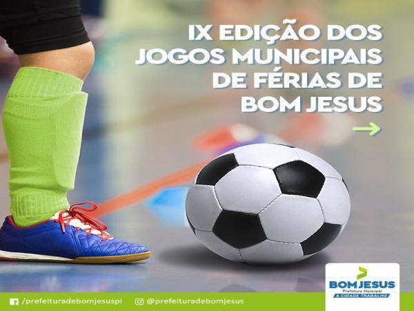 Jogos de férias de Bom Jesus começarão nesta segunda-feira (21)