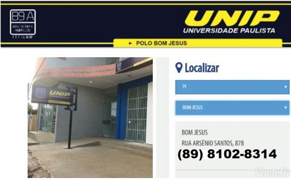 Bom Jesus e Região agora tem um Polo da Universidade UNIP