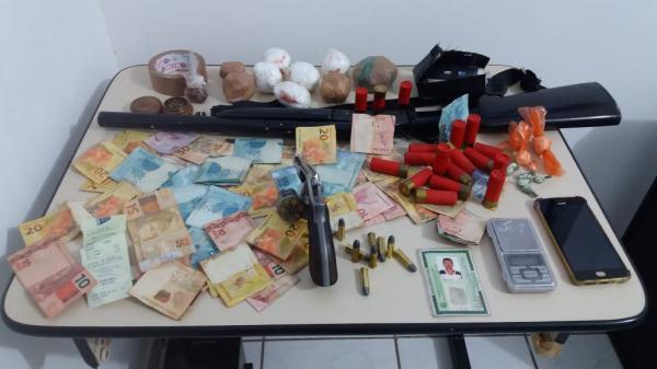 Polícia prende homem com drogas em Cristino Castro