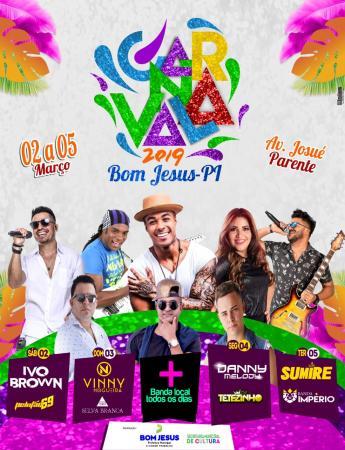 Programação para o Carnaval de Bom Jesus-PI