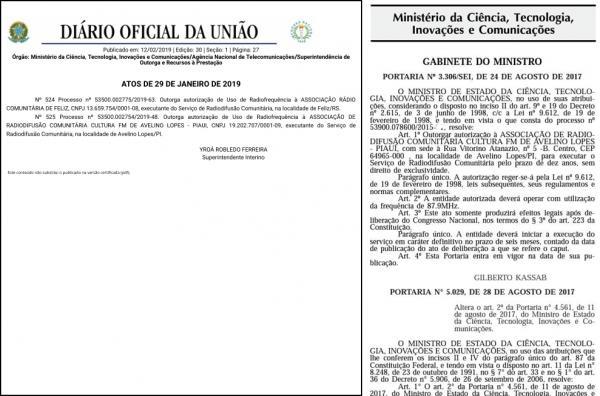 Anatel autoriza funcionamento de rádio FM de Avelino Lopes