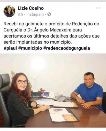 Dr. Macaxeira é recebido pela deputada Liziê Coelho