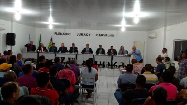 1ª Sessão Ordinária da Câmara de Vereadores de Gilbués em 2019