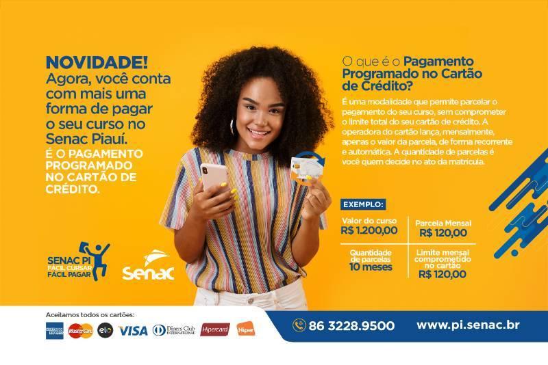 Conheça a nova forma de pagar o seu curso no Senac Piauí