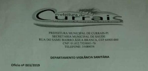 Vigilância sanitária de Currais emite nota sobre terrenos baldios