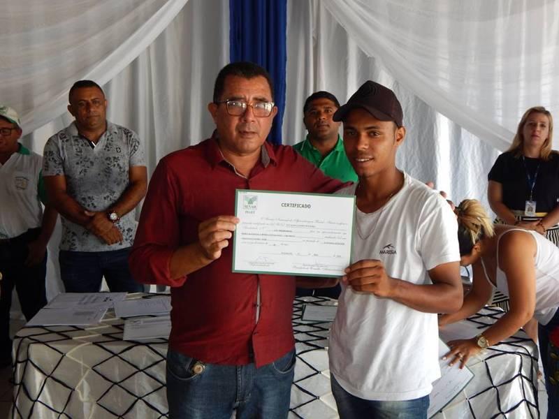 Cerimônia de conclusão de cursos em Cristino Castro